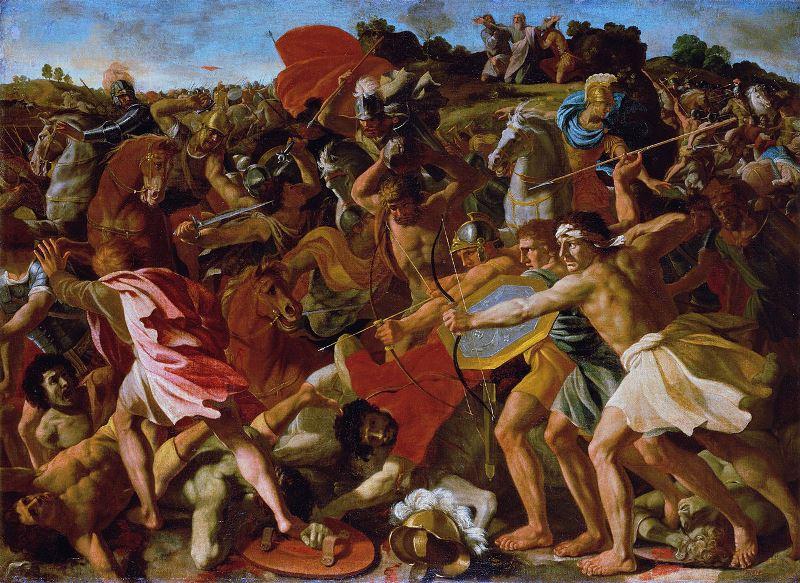 Poussin_Overwinning van Joshua op de Amalekiten