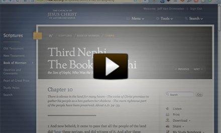 Video Walk-Through of New LDS.org Scriptures