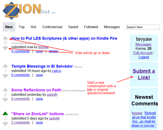 ZionList how-to