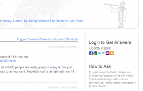 How to login to ask.MormonLifehacker.com