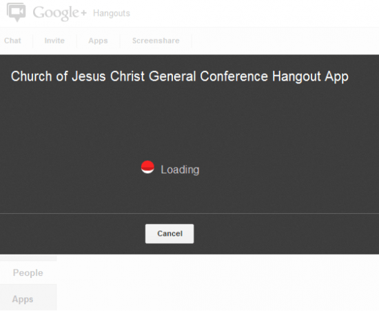 general conference google+ hangout watch live
