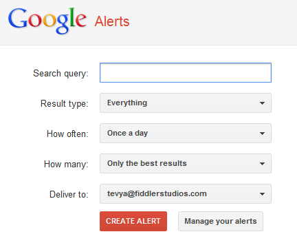 Use Google Alerts to get Latest Church News