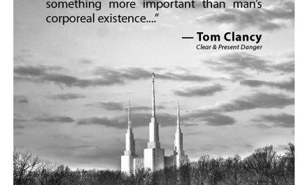 What Tom Clancy Had to Say About Mormons & the Temple