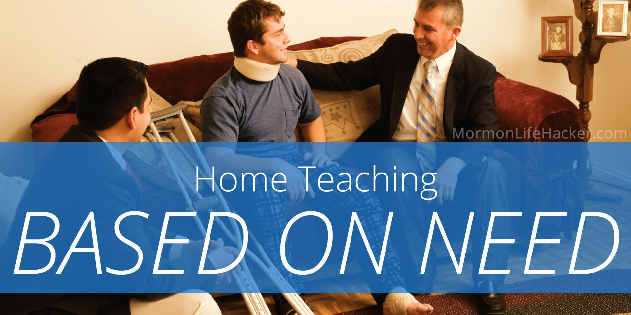 Home Teaching by Priority, Based on Need