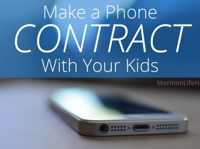 make a phone contract your kids