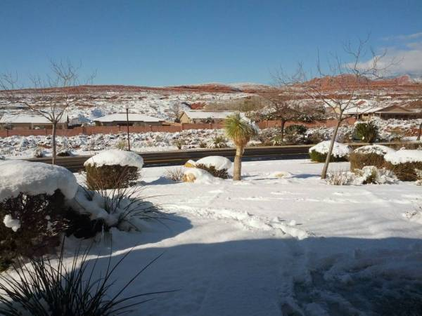 St George snow storm of 2013