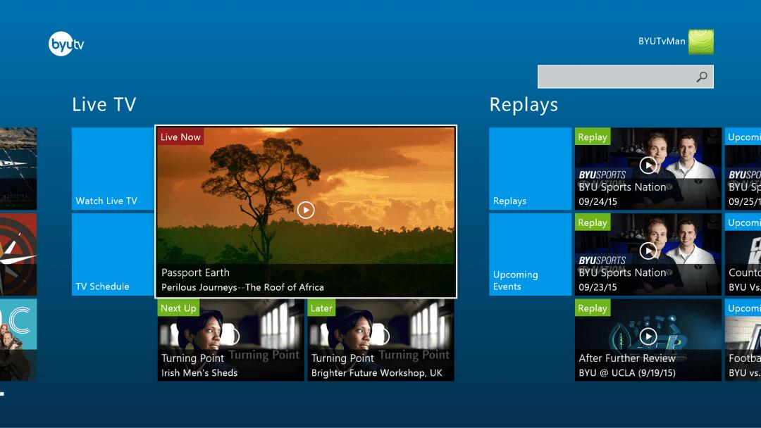 Xbox byutv app