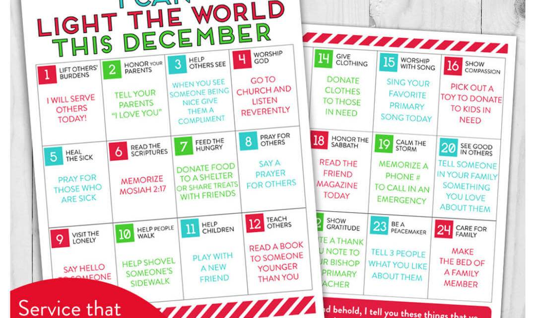 #LIGHTtheWORLD Christmas activities for Primary-aged children