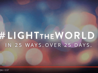 #LIGHTtheWORLD mormon LDS Christmas Light World