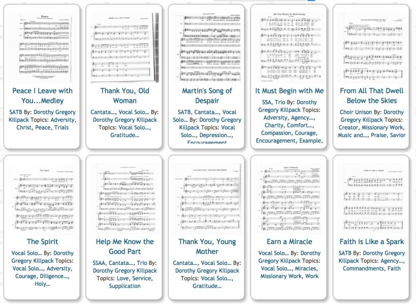 Free LDS Sheet Music Killpack Mormon