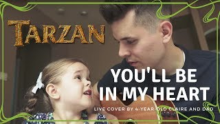 LDS 4-YEAR-OLD MUSICIAN CLAIRE RYANN SINGS YOU'LL BE IN MY HEART FROM DISNEY'S TARZAN – LIVE COVER