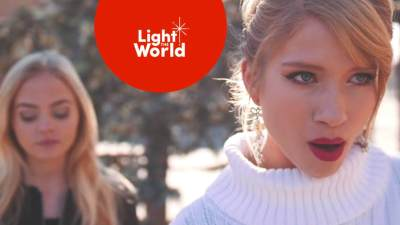 """Monica Moore Smith & Madilyn Paige #LIGHTtheWORLD with """"Mary Did You Know?""""Mormon Life Hacker LDS Mormon #LightTheWorld"""