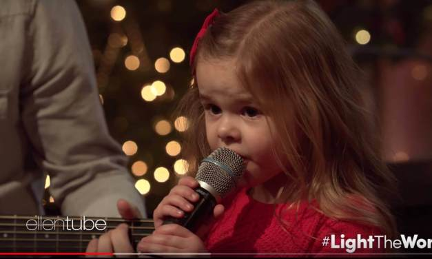 "Ellen Degeneres shares Claire Ryann Crosby's #LightTheWorld video (""Let There Be Peace On Earth"")"