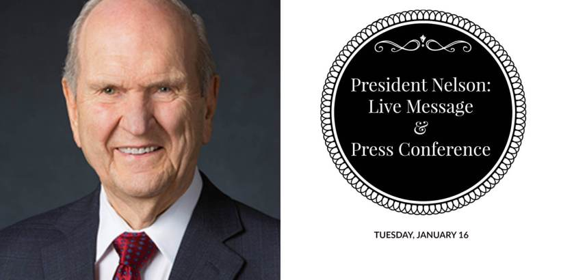 PRESDIENT NELSON LIVE MESSAGE AND PRESS CONFERENCE MORMON LDS LIFE HACKER
