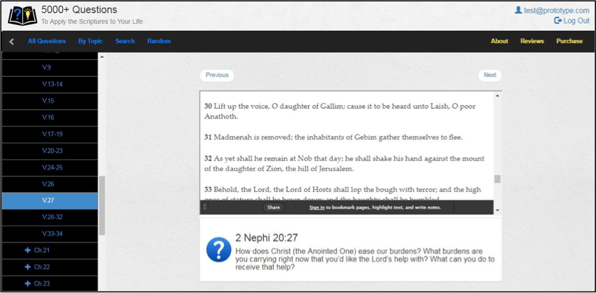 5000+ Questions to Apply the Scriptures to Your Life—check this out!