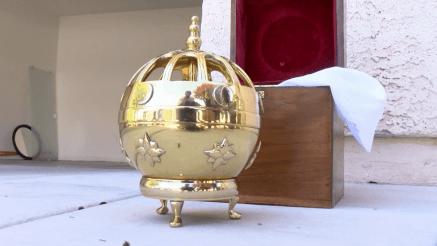 Liahona LDS Mormon Las Vegas stolen urn