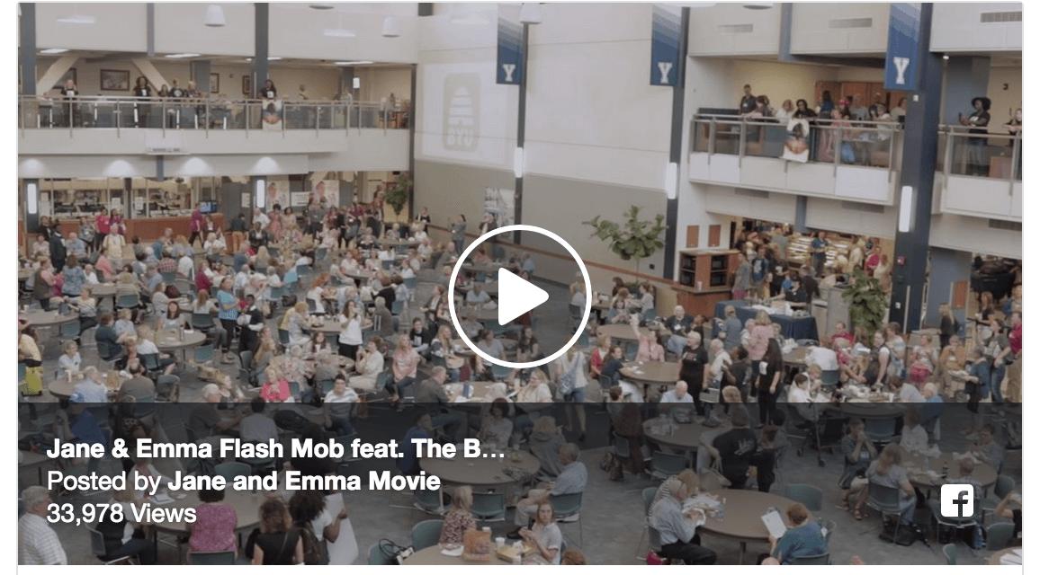 EPIC FLASH MOB! Jane and Emma cast stuns BYU Education Week crowd