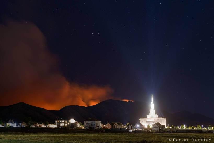 Temple fire LDS Mormon Payson