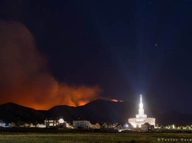 Temple fire LDS Mormon Payson