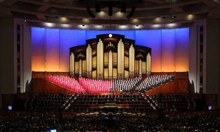 Powerful behind-the-scenes images from the Saturday, April 4, 2020 General Conference