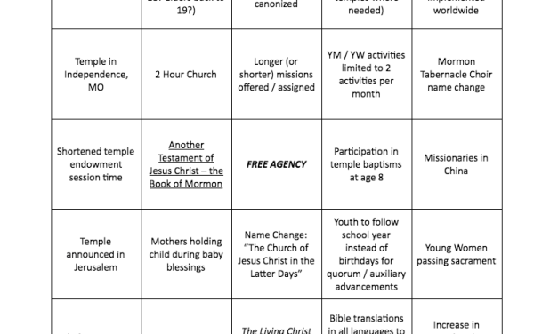 """#GeneralConference """"Lingo""""—What will happen at this historic October 2018 conference? (courtesy of Mormon News Report)"""