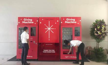 #LightTheWorld 2018 Giving Machine in Manila (Philippines) Launches!