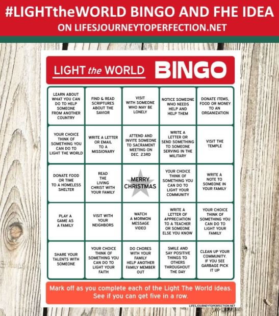Light the world bingo 2018 5