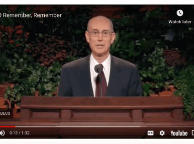 President Eyring Gratitude Remember Journal Family History LDS Mormon