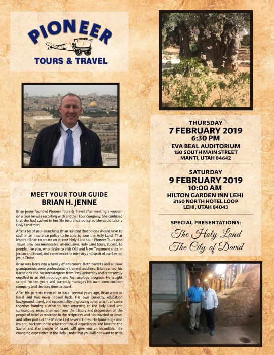 Pioneer Tours and Travel visits The Holy Land City and The City of David