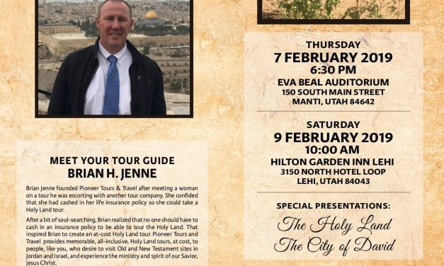 Pioneer Tours & Travel presents on The Holy Land & The City of David!
