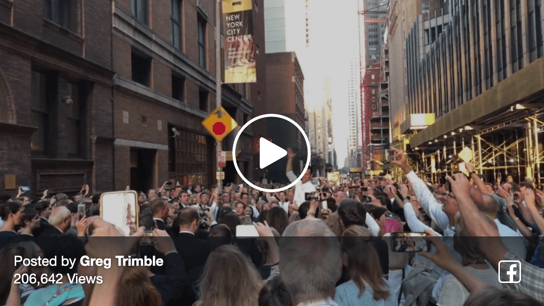 Greg Trimble's video post of a crowd and choir singing songs about Christ during the New York City Blackout goes viral!