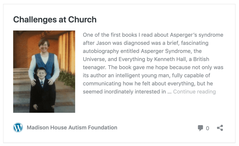 autism lds church mormon support help