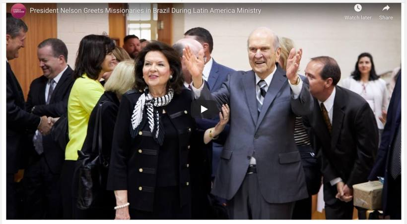 President Nelson Greets Missionaries in Brazil During Latin America Ministry LDS Mormon