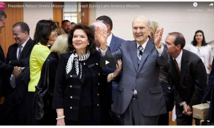 VIDEO: President Nelson Greets Missionaries in Brazil During Latin America Ministry