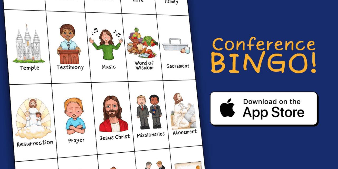 #GeneralConference Bingo App — fun for everyone!