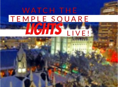 Temple Square Utah Christmas Lights Live Camera LDS Mormon #LightTheWorld Salt Lake
