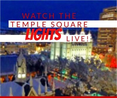 Temple Square Utah Christmas Lights Live Camera LDS Mormon #LightTheWorld Salt Lake