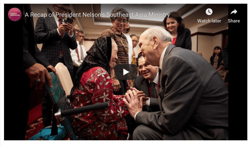 VIDEO: A Recap of President Nelson's Southeast Asia Ministry Mormon LDS