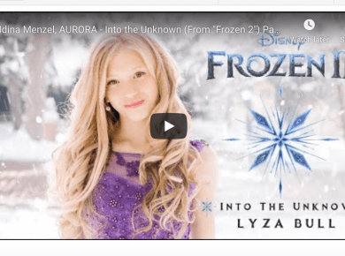 "Latter-day Saint artist Lyza Bull sings Disney's ""Into The Unknown"" (From ""Frozen 2"") by Idina Menzel, AURORA, and Panic! At The Disco featuring Brendon Urie"