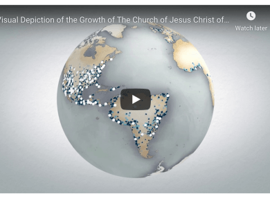A visual depiction of Church growth by temples and stakes (D&C 65) from 1830 to 2017 Mormon