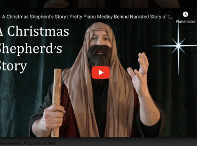 A Christmas Shepherd's Story | Pretty Piano Medley Behind Narrated Story of the First Christmas :)