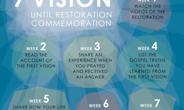 #FirstVisionMyVision 7 Weeks of Vision countdown: Counting down to #GeneralConference