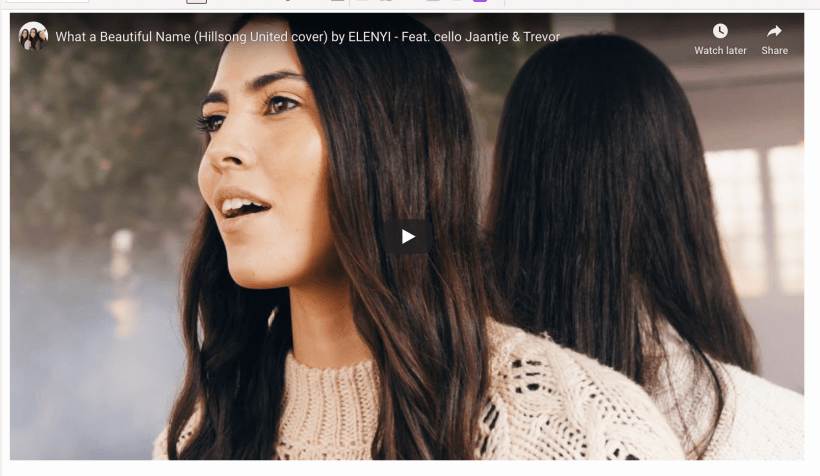 What a Beautiful Name (Hillsong United cover) by ELENYI - Feat. cello Jaantje & Trevor