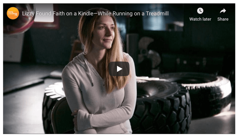 Lizzy Found Faith on a Kindle—While Running on a Treadmill Book of Mormon LDS