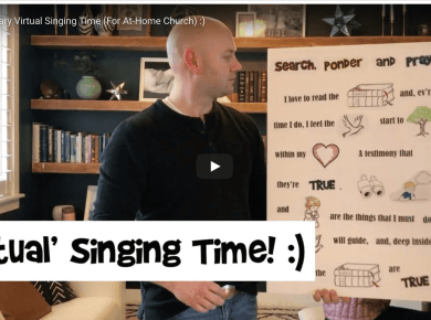 "Here is another 'Virtual Singing Time' if any of your kids want to keep practicing primary songs at home! Today we talk New Testament parables, sing Book of Mormon Stories and Families Can Be Together Forever (because your family has been stuck inside ""together"" for what feels like ""forever""."
