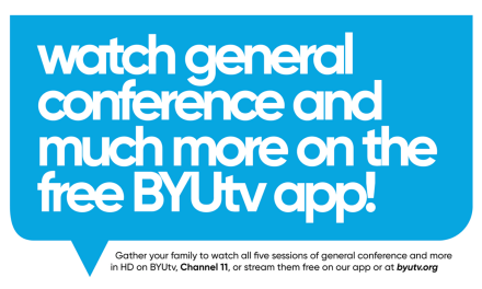 #GeneralConference + BYUtv = a winning combination