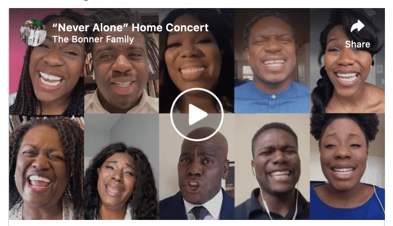 "VIDEO: The Bonner Family performs ""Never Alone"""