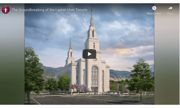 VIDEO: The Groundbreaking of the Layton Utah Temple