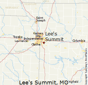 Lee's Summit is a city located within the counties of Jackson and Cass in the U.S. state of Missouri. As of the 2010 census its population was about 91,364, making it the sixth-largest city in both the state and in the Kansas City Metropolitan Area.