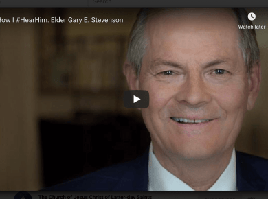 VIDEO: How I #HearHim: Elder Gary E. Stevenson of The Church of Jesus Christ of Latter-day Saints